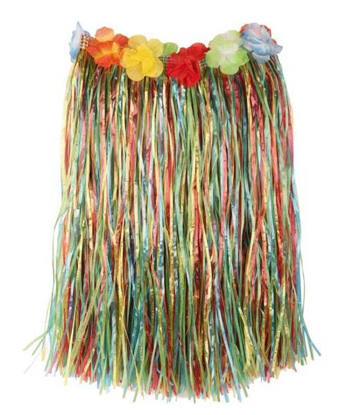 Jupe-hawaï-60cm-Multicolore