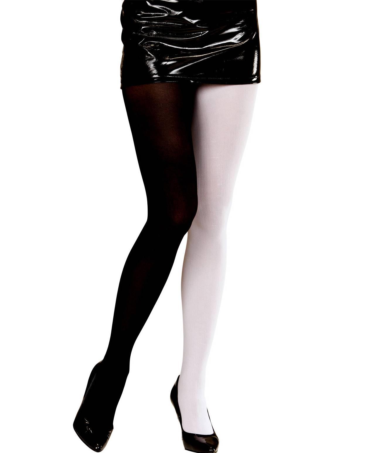 Collant-noir-et-blanc-Grande-Taille-XL