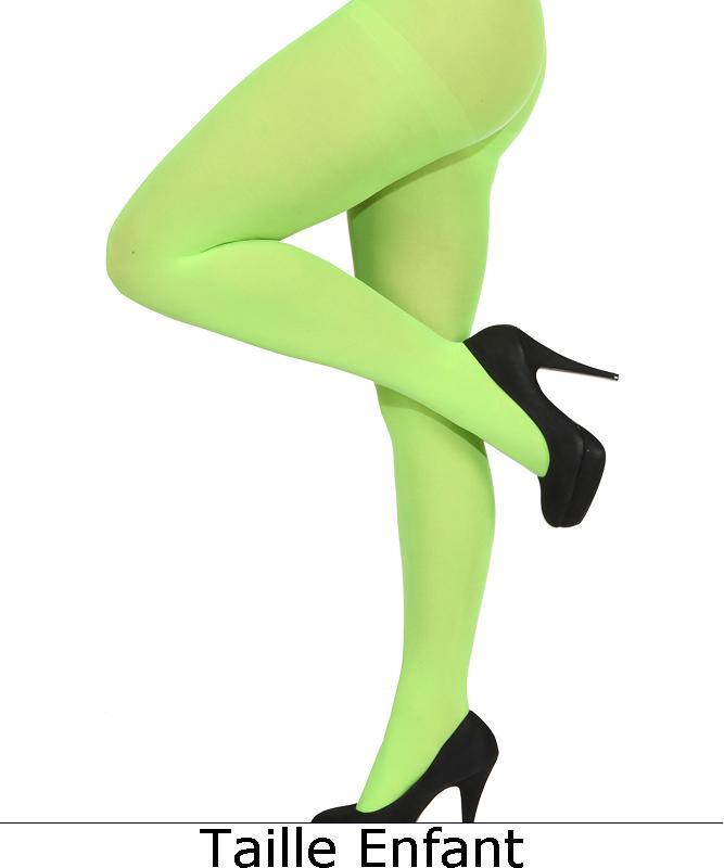 Collant-vert-fluo-enfant