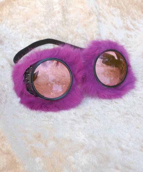 Lunettes-peluche-violettes