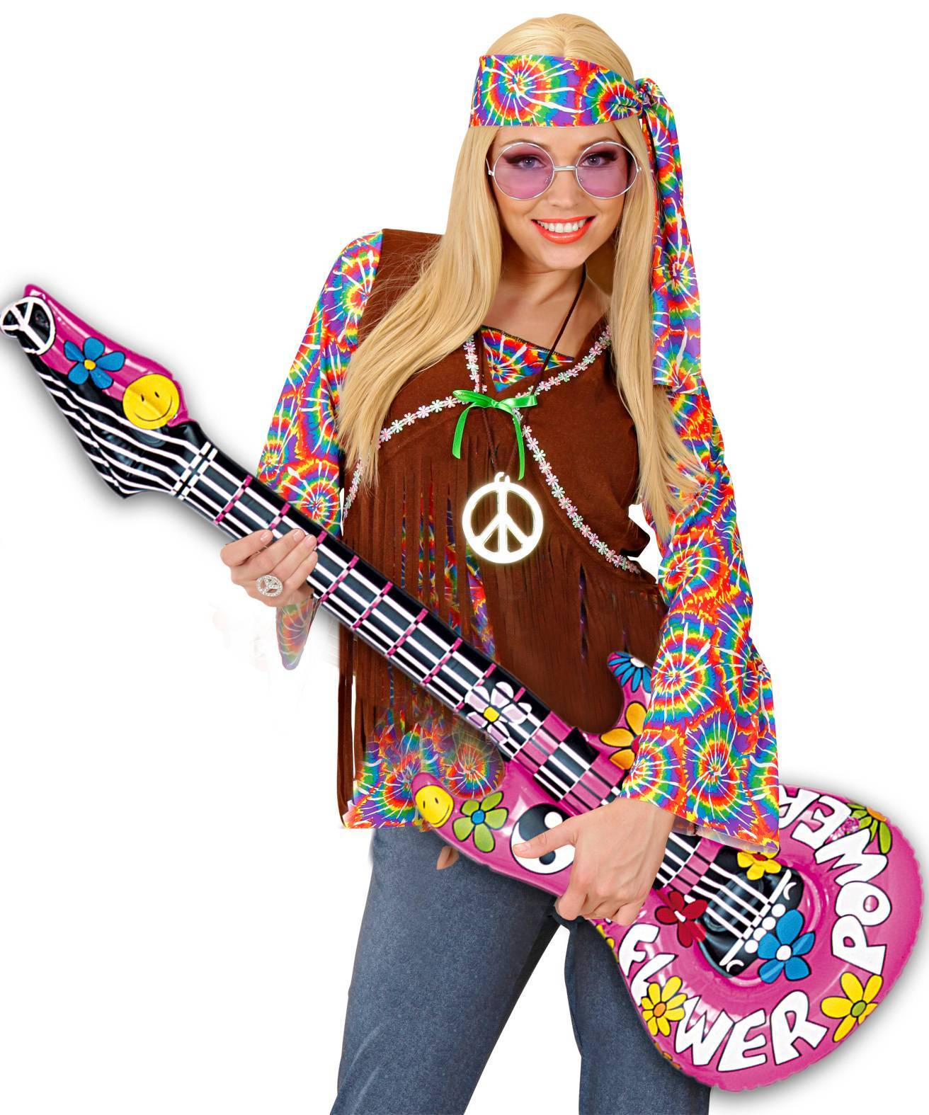 guitare hippie gonflable ax1349. Black Bedroom Furniture Sets. Home Design Ideas