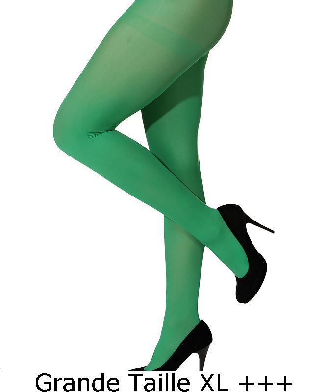 Collant-vert-adulte-grande-taille