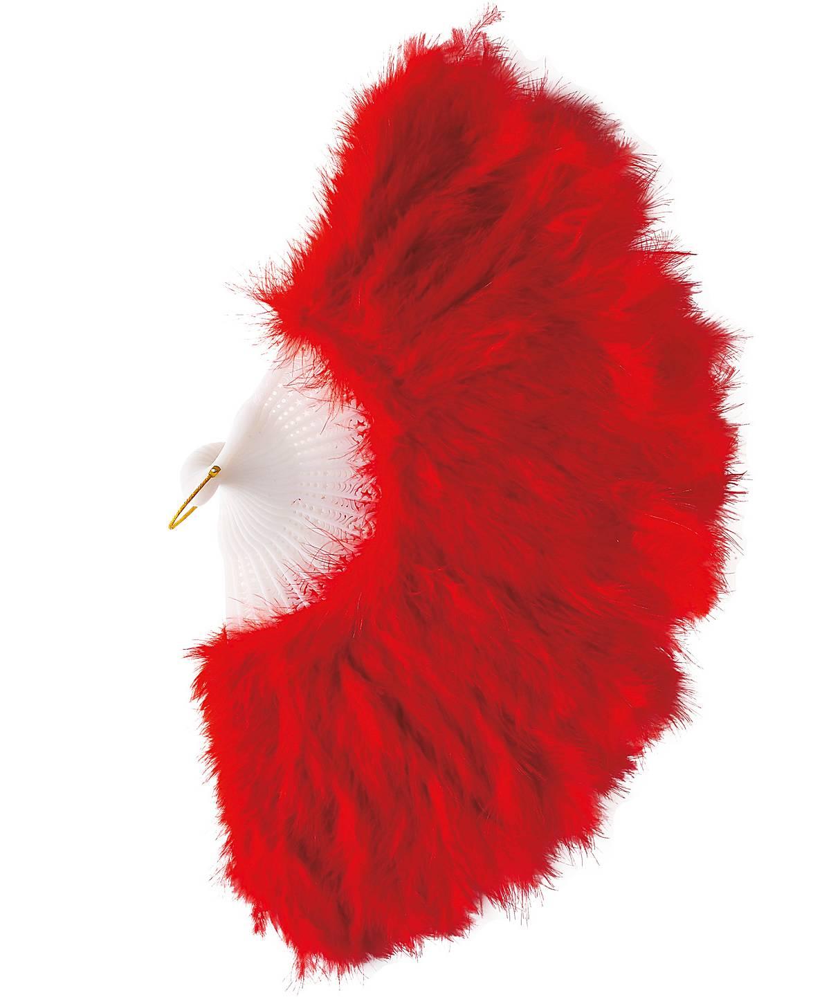 Éventail-plumes-rouge