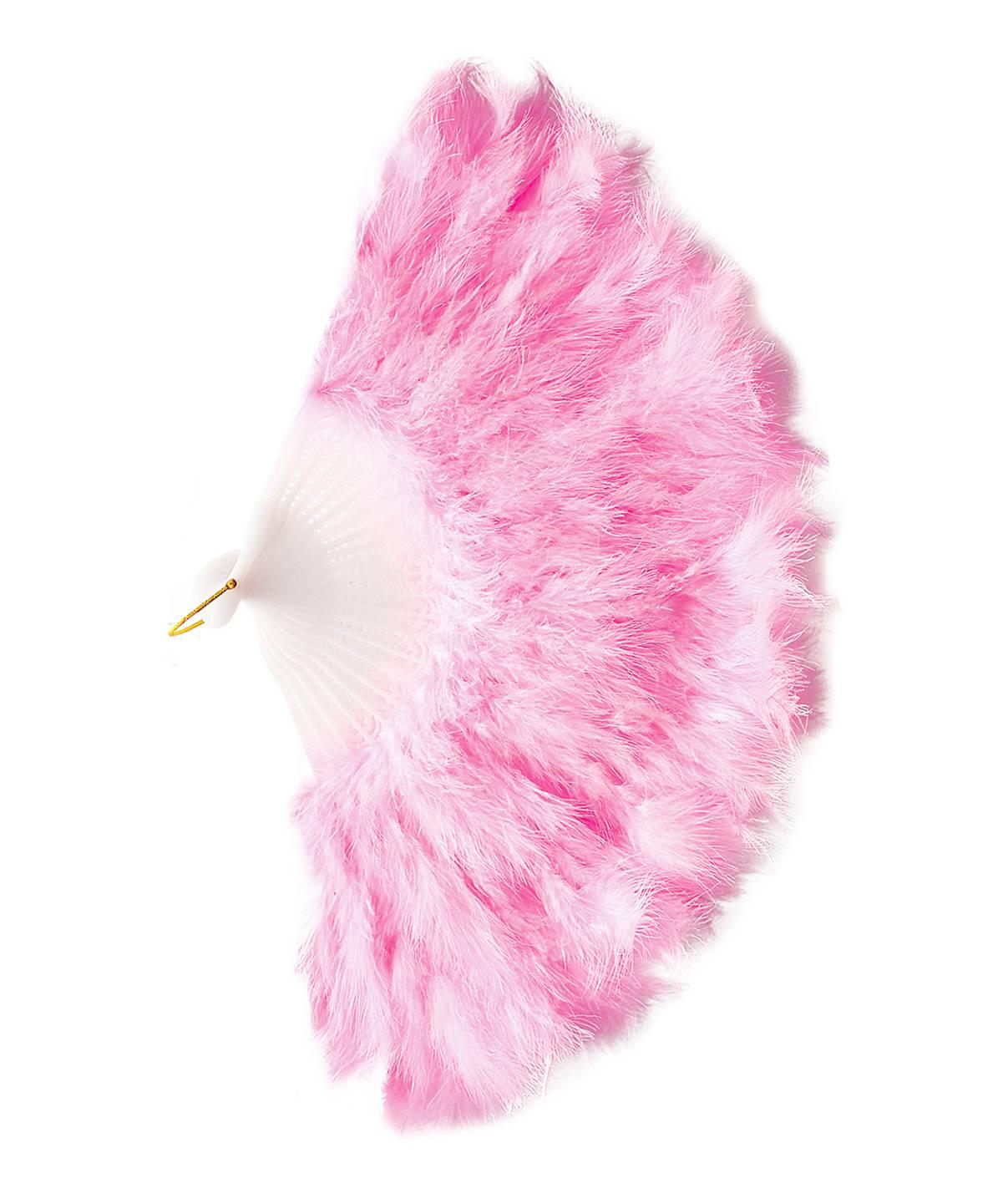 Éventail-plumes-rose
