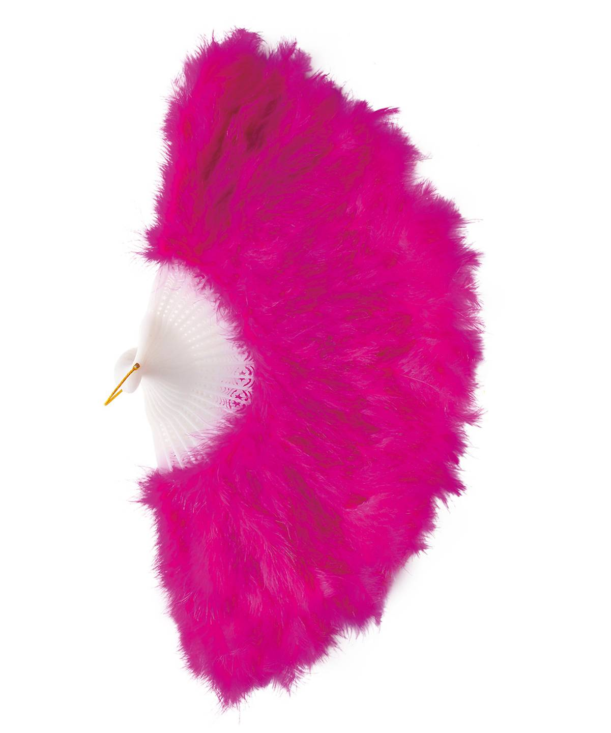Éventail-en-plumes-rose-vif