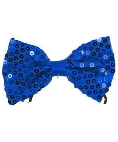 Noeud-papillon-bleu-paillet�