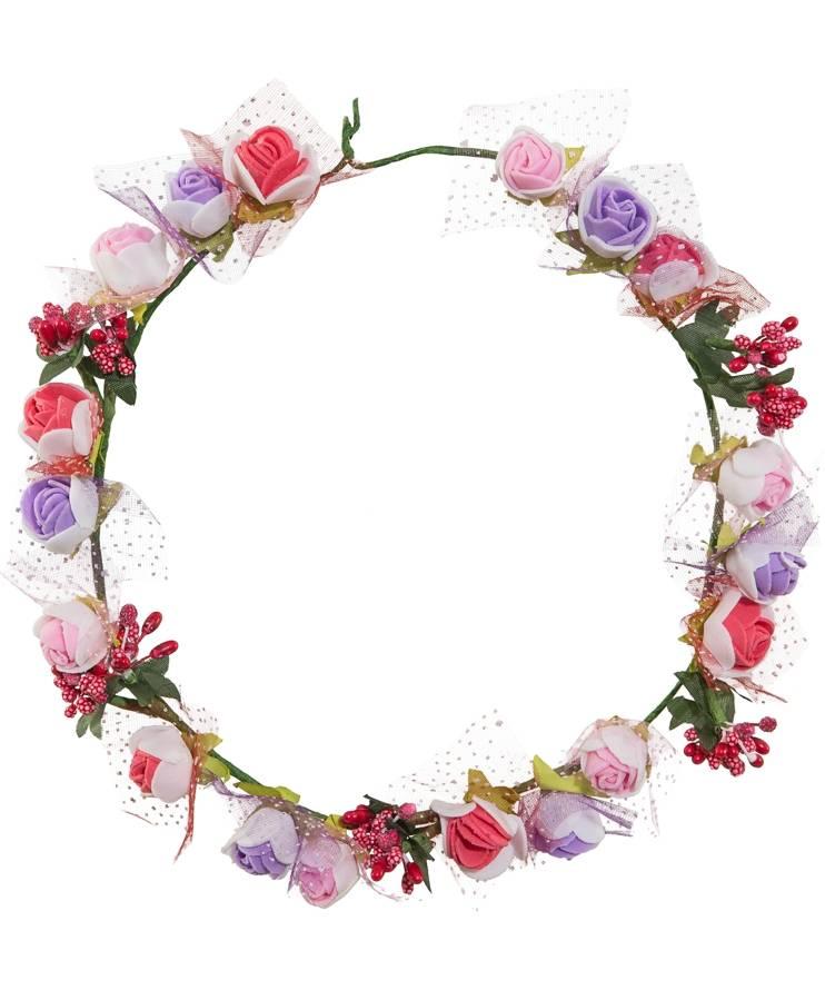 Couronne-fleurs-roses
