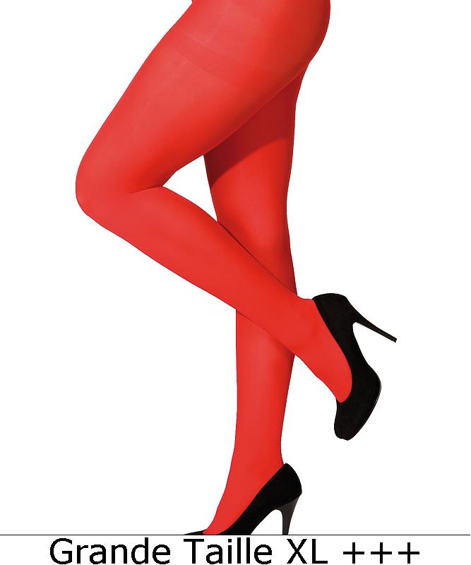 Collant-rouge-adulte-grande-taille