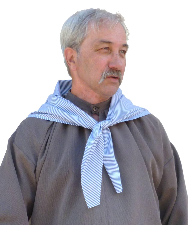 Foulard-rayé-bleu