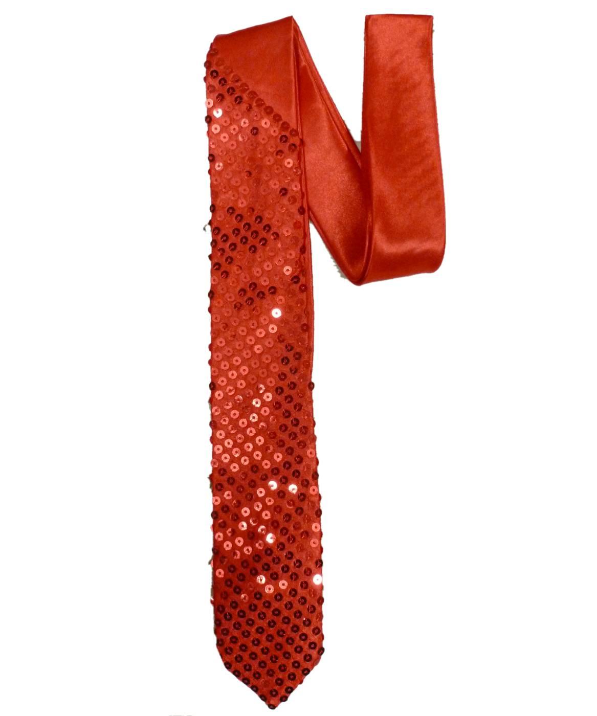 Cravate-pailletée-rouge