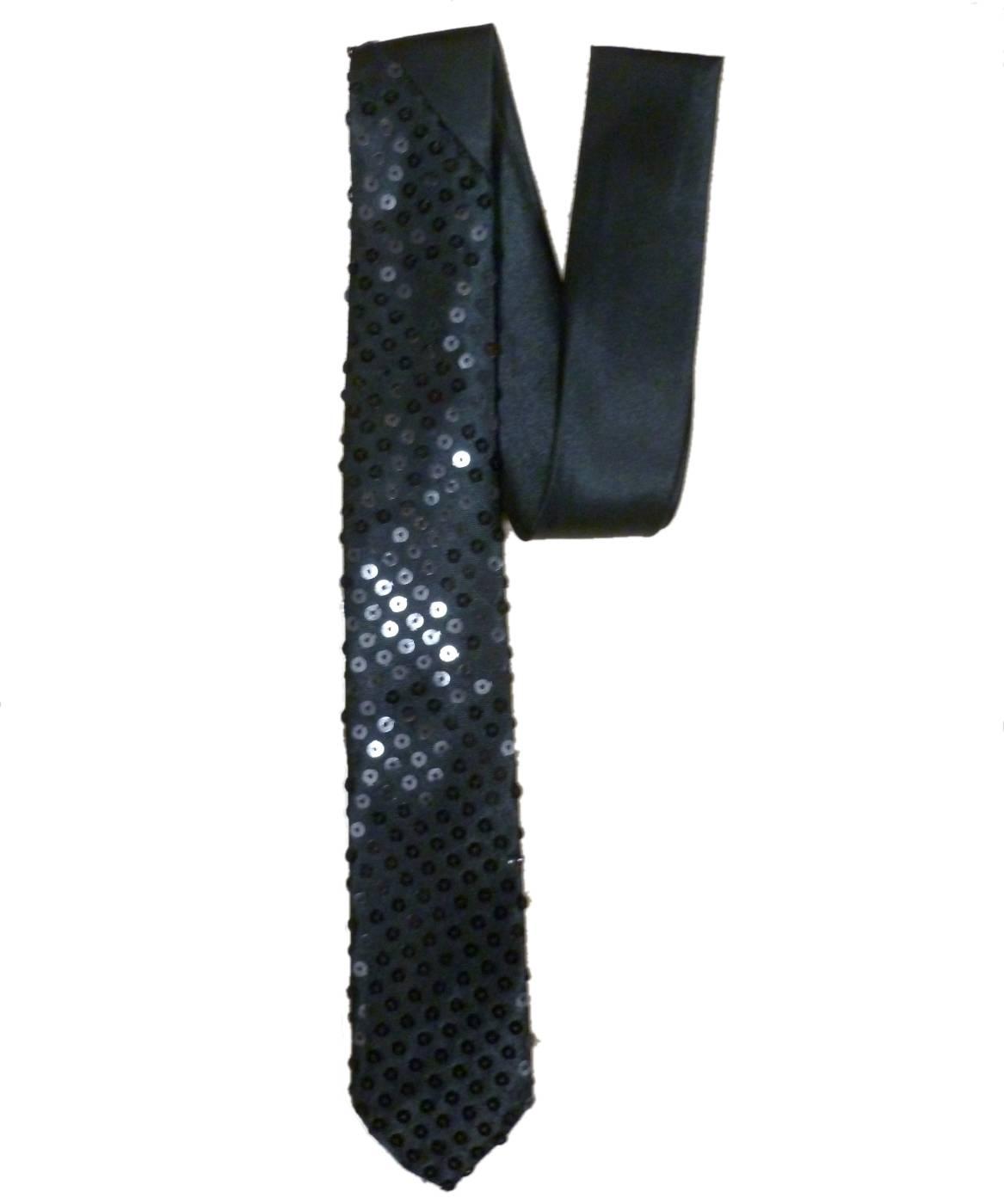 Cravate-noire-paillettes