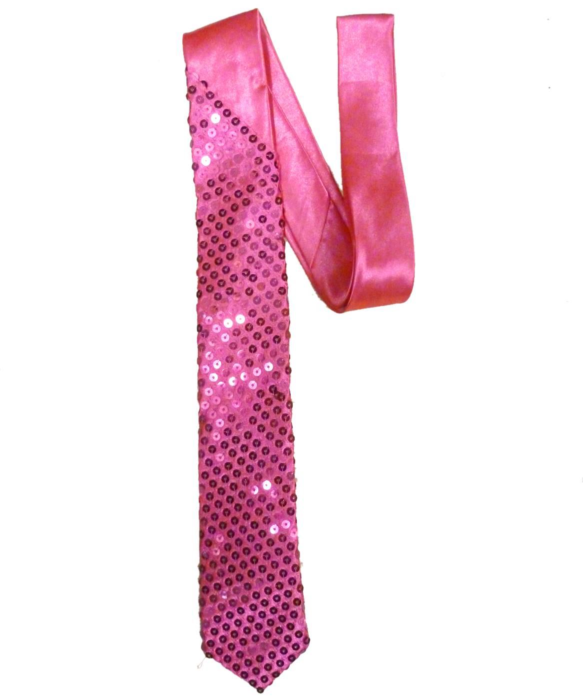 Cravate-paillettes-rose