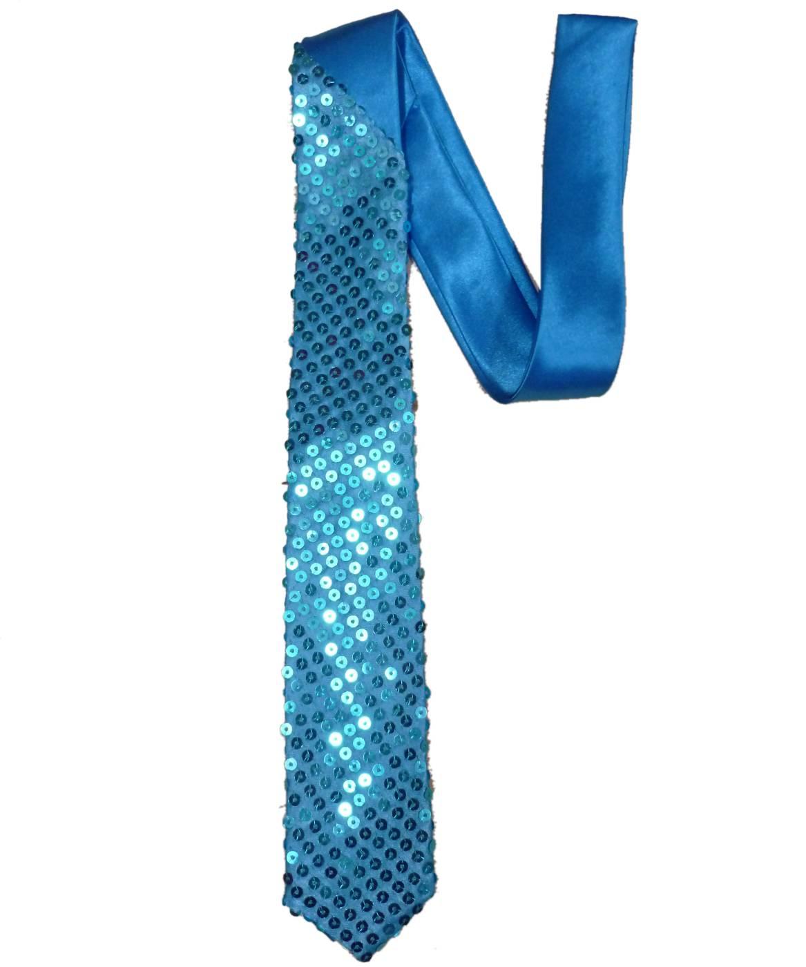 Cravate-paillettes-turquoise