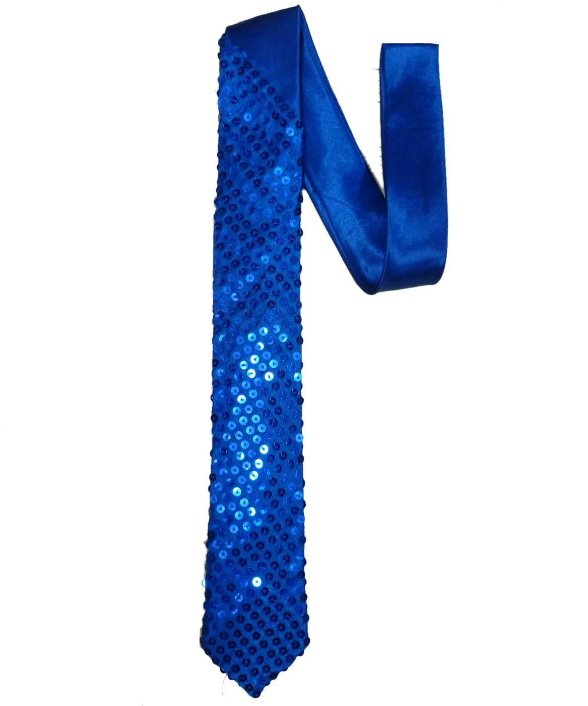 Cravate-paillettes-bleue