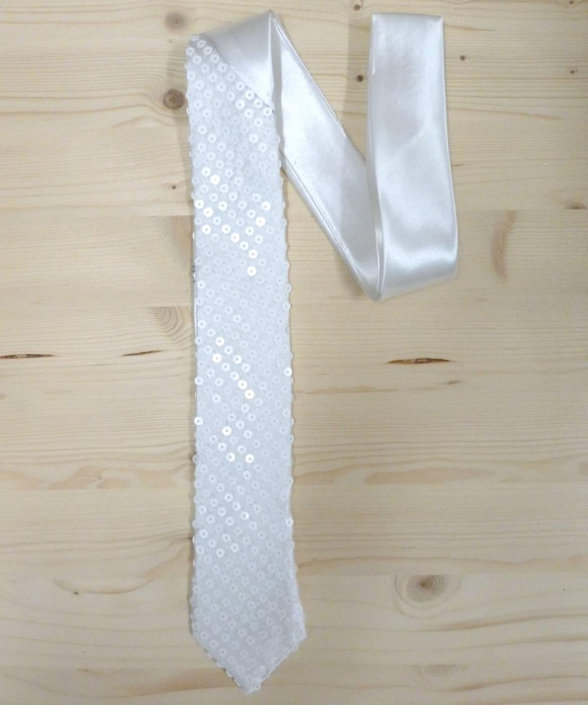 Cravate-paillettes-blanche
