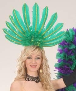 Coiffe-cabaret-plumes-verte
