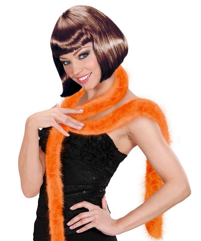 Marabout-orange-en-plumes-2m
