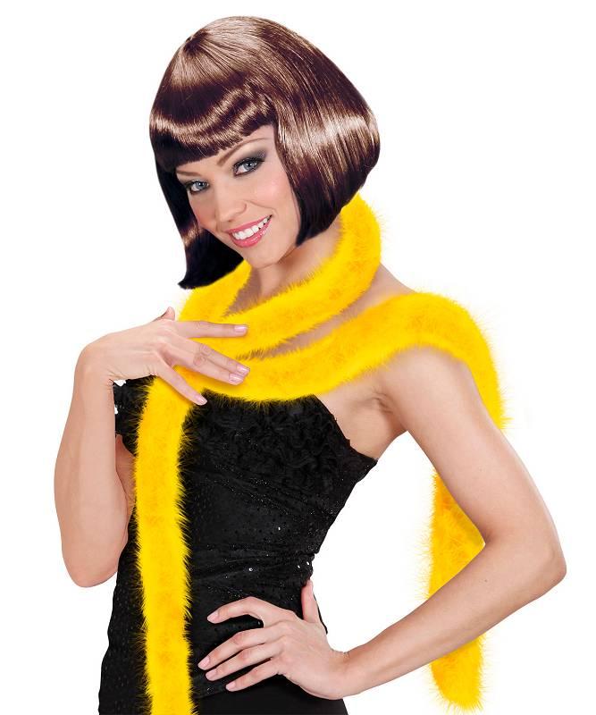 Marabout-en-plumes-jaune