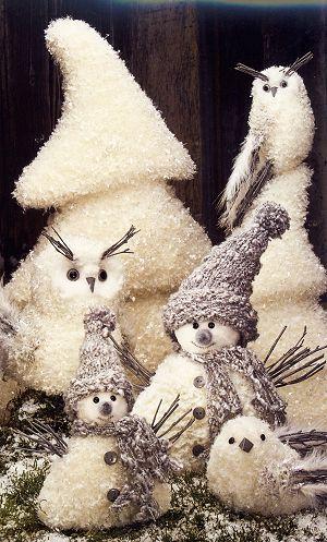 D�coration-de-No�l-Oiseau-blanc-22cm-2