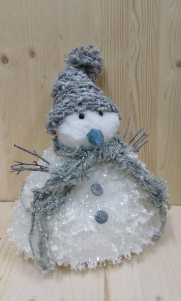 Decoration de noel bonhomme neige 35cm voir les stocks for Decoration porte bonhomme de neige
