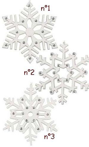Décoration-de-Noël-Flocon-feutrine-10cm