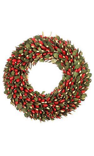 Décoration-de-Noël-Couronne-baies