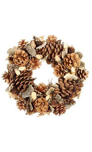 Décoration-de-Noël-Couronne-pin