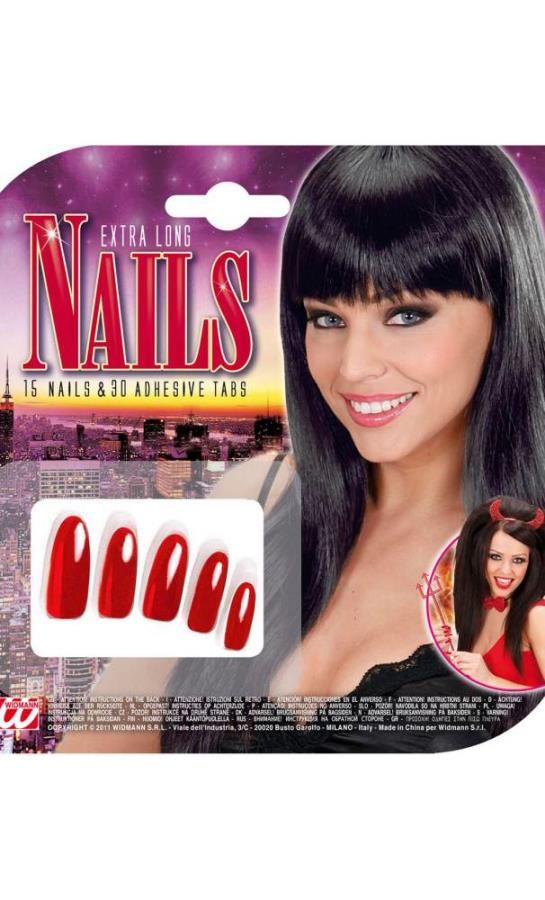Faux-ongles-rouges