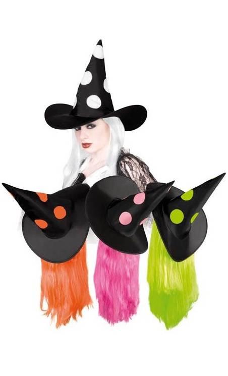 Chapeau sorcière pois