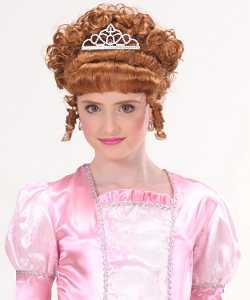 Perruque-Princesse-Enfant-ch�tain