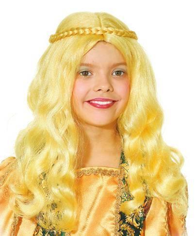 Perruque-Médiévale-Enfant-Blonde-M2