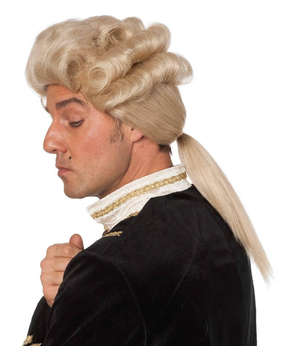 Perruque de marquis blond
