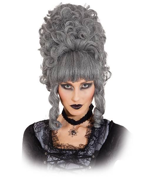 Perruque baroque femme grise-P10156