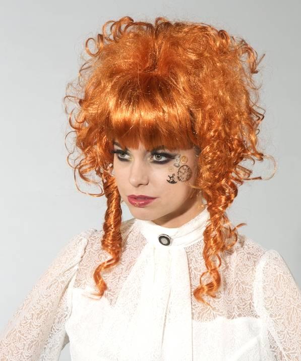 Perruque steampunk femme rousse - Perruque