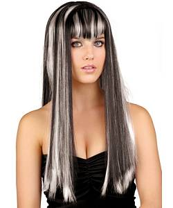 Perruque-Longue-noir-blanc