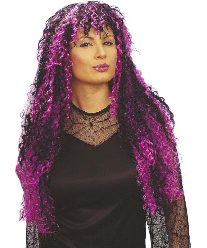 Perruque-Bouclée-noire-et-violette