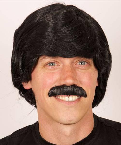 Perruque-Homme-Noir-Moustache