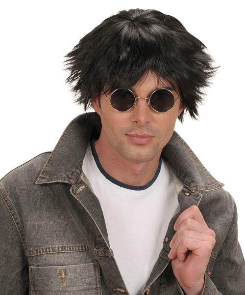 Perruque-Homme-Noire-coiffé-décoiffé