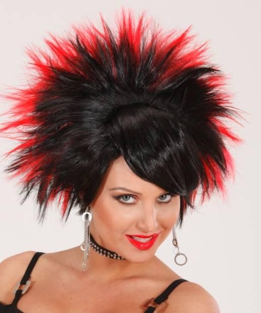 Perruque-Punk-noir-rouge