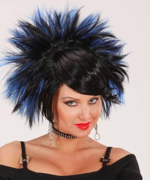 Perruque-Punk-noir-bleu