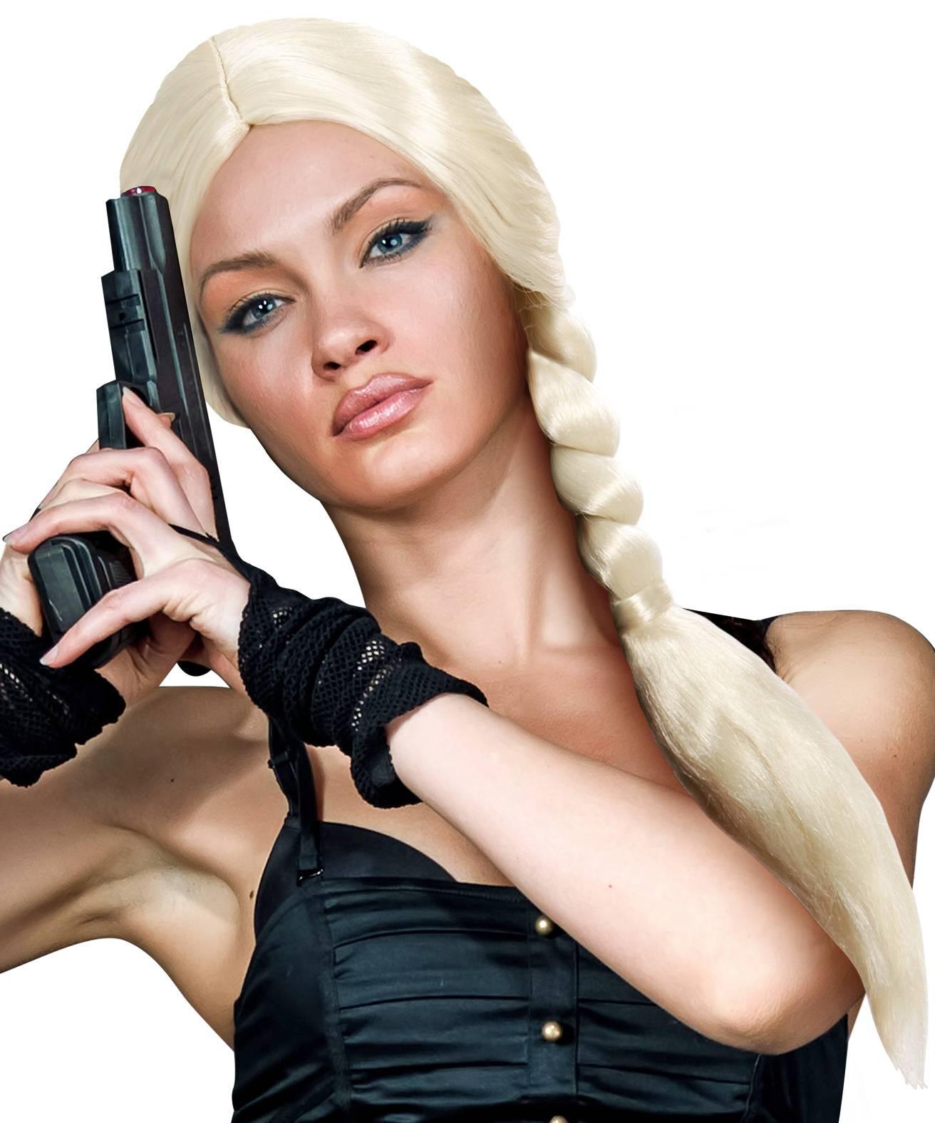Perruque-Tress�e-Blonde