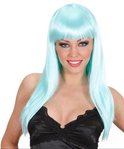 Perruque-Turquoise-longue