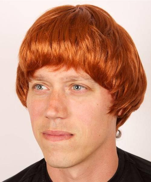 perruque rousse homme