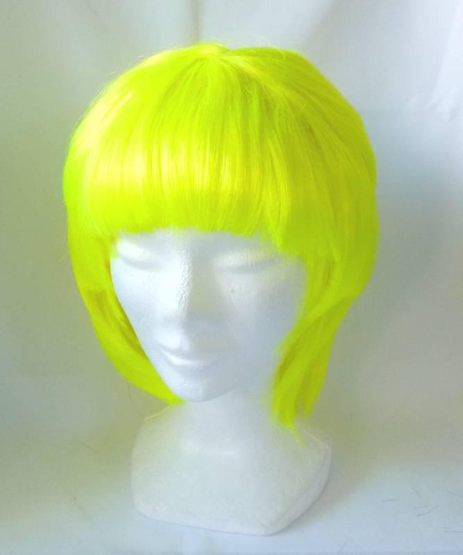 Perruque-Jaune-fluo-petit-prix