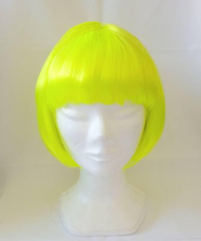 Perruque-Carré-jaune-néon