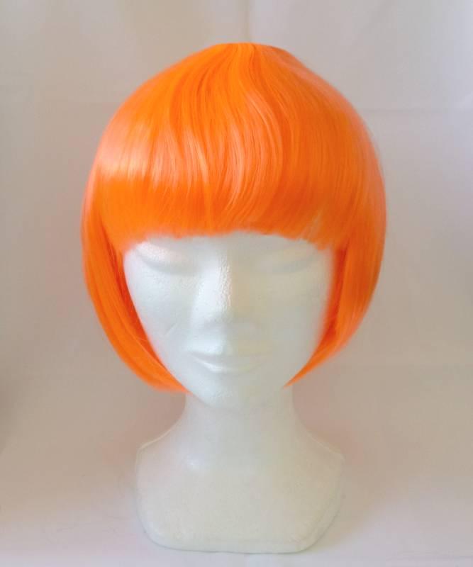 Perruque-orange-pas-chère