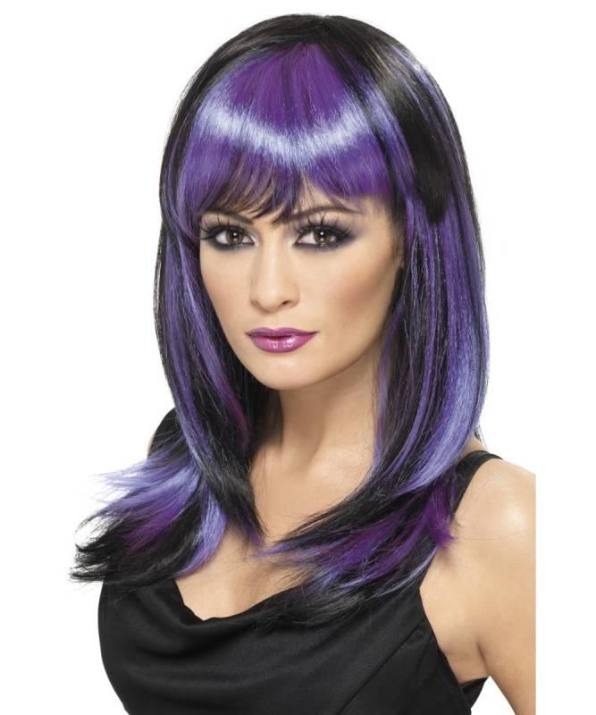 Perruque-Bicolore-Violette-M1