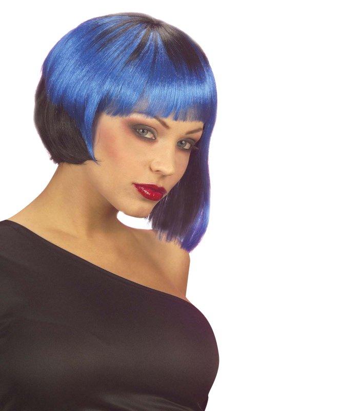 Perruque-Neo-Punk-noire-bleue