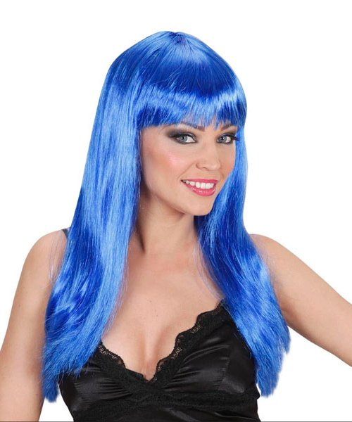 Perruque-bleue-longue