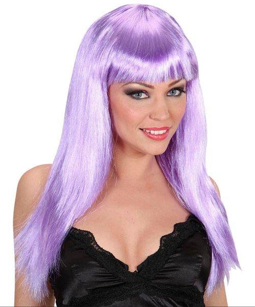 Perruque-Longue-violet